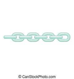 Chain icon, cartoon style - Chain icon. Cartoon illustration...