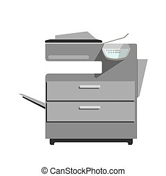 Flat vector printer copy machine. - Vector icon of laser...