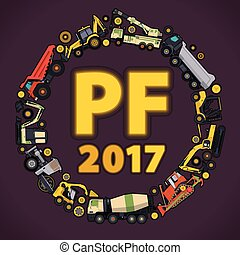 Pour Felicity 2017. Set of ground works machines vehicles....
