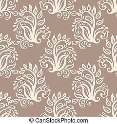 Floral decorative elements - Seamless pattern with floral...