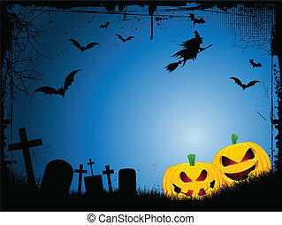 Halloween background - Spooky Halloween background with evil...