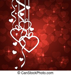 Amazing Valentines background with white Hearts. Vector...