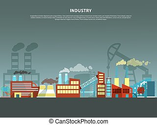 Industry concept vector illustration - Industry concept with...