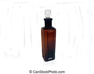 Antique brown pharmaceutical bottle