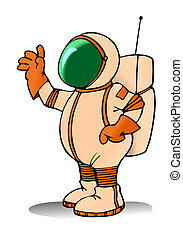 cute astronaut - illustration of a cute Spaceman Astronaut...