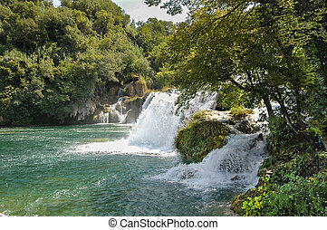 the Krka waterfalls - an overview of the Krka waterfalls in...