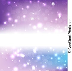 Bright Blue Abstract Christmas Background With White Snowflakes