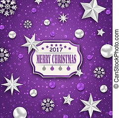 Holiday Silver Starry Background with Best Wishes