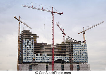 Elbphilharmonie Hamburg - Construction site of the...