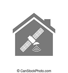 Isolated house with a satellite