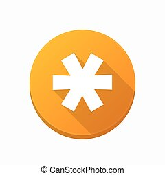 Isolated button with an asterisk - Illustration of an...