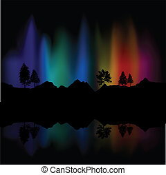 Northern lights - Background of northern lights in the sky...