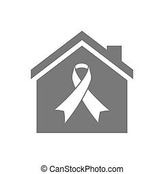 Isolated house with an awareness ribbon