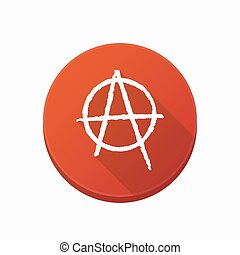 Isolated button with an anarchy sign - Illustration of an...