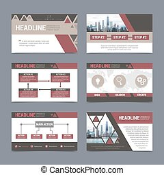Presentation templates set - Paper presentation and report...
