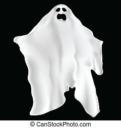 Spooky ghost - Illustration of a spooky ghost