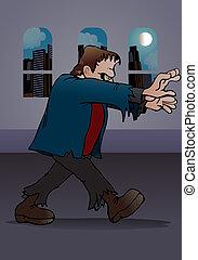 Frankenstein monster attack - illustration of a Frankenstein...