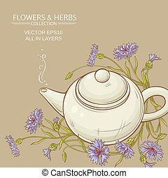 corn flower tea vector background - corn flower tea in...