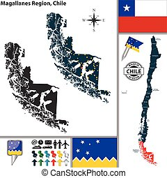 Map of Magallanes, Chile