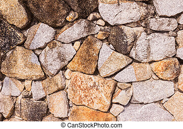 Stone wall or mountain rock wall background - Stone wall or...