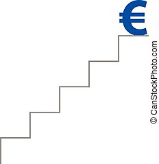 Stairs with euro on top