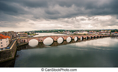 Stone bridge in Berwick - Berwick Bridge also known as 'Old...
