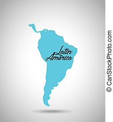latin america map icon over white background. vector...