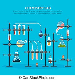 Laboratory or lab for chemical experiments - Chemistry or...