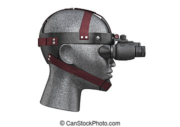 Night vision military, side view