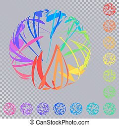 Set of Bright Colorful Spheres of Intersecting Curves....