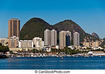 Rio de Janeiro Urban View with Hills