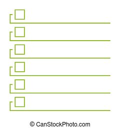 To do list. Lines with check boxes. checklist for note....