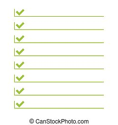 To do list. Vector - To do list. Lines with check boxes....