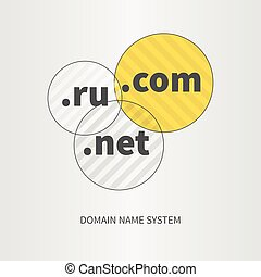 Domain name services web logo and icon, concept elements...