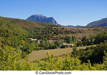 Pic de Bugarach in southern France, Corbieres