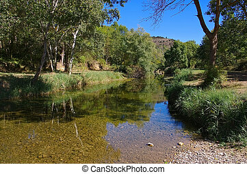 river La Sals in southern France, Corbieres
