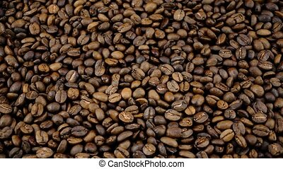 roasted coffee beans background - roasted coffee beans...