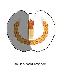 Isolated baguette design - Baguette icon. Bakery food shop...