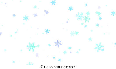 Falling snowflakes. Alpha channel - Multi-colored snowflakes...