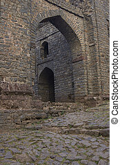 Fortress town of Mandu - Unused entrance to the historic...
