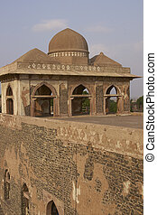 Royal palace of Jahaz Mahal in Mandu - Ancient islamic royal...