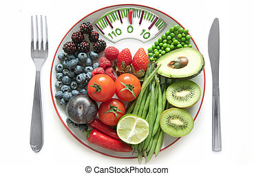 Bathroom scales diet concept