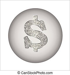 Dollar made of silver or platinum