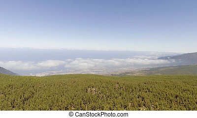 Mountains of Tenerife, aerial view