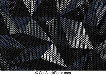 Metallic chain armor abstract geometric background