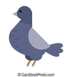 Dove vector icon illustration cartoon style bird...