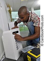 Repairing ventilation system