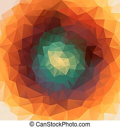 Round abstract 2D geometric colorful background for web...