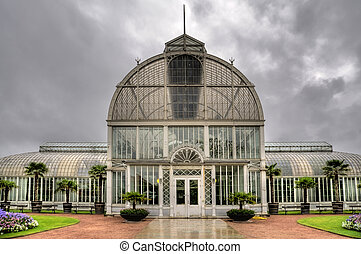 Orangery in the city of Gothenburg, Sweden
