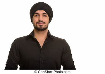 Young handsome Indian Sikh